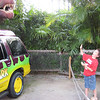 steven's pose with the spinosaurus